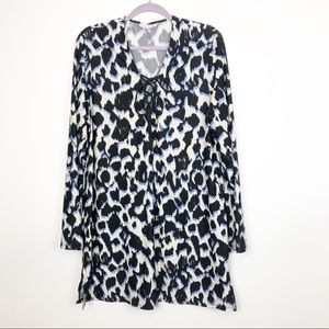 La Blanca Leopard Print Swim CoverUp Dress
